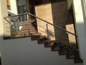 SS Pipe Railing Staircase