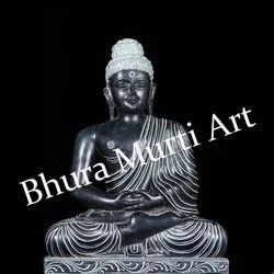 Black Marble Lord Buddha Statue