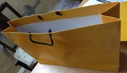Duplex Board With Laminated Brown Garment Shopping Bag