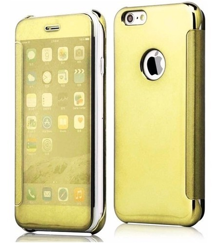 uk availability 36114 ebc64 Popular Flip Cover For IPhone 6S Plus Slim Mirror Shinning - Mobile ...