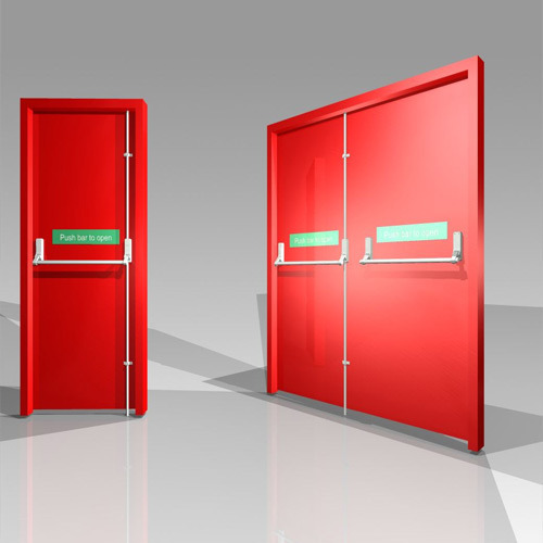 Metal Swing Ul Listed Fire Door Thickness 46 Mm Rs