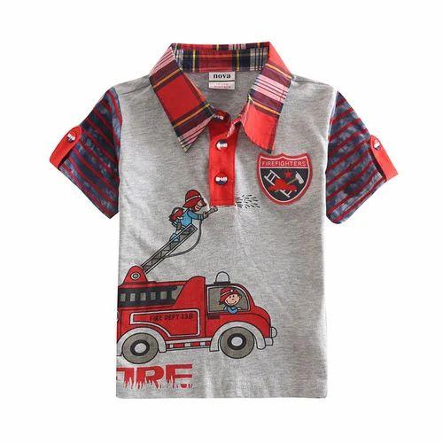 9a9d4bd590 Kids Collar T Shirt