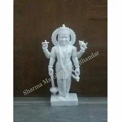 Vishnu White Marble Statue