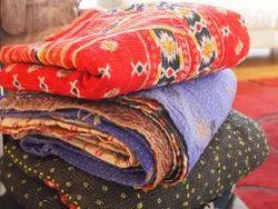 Handmade Kantha Throw Vintage Kantha Quilt