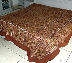 Ethnic Banarasi Brocade Silk Bed Cover Bedspread