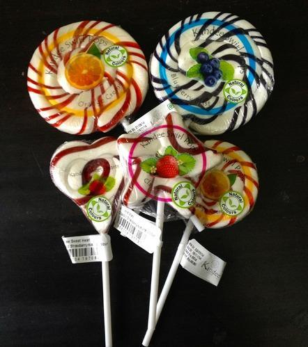 Kandee Swirl Lolli Pops In Natural Colors (candy Lollipops)