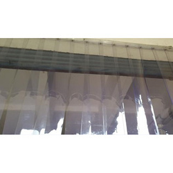 Plain And Ribbed Blue PVC Transparent Curtain, For Industrial, Thickness: 2-6 Mm