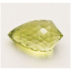Lemon Quartz Faceted Teardrop Fancy Gemstone