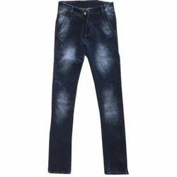 Blue Slim Fit Mens Trendy Jeans