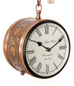 8 Double Sided Station Clock