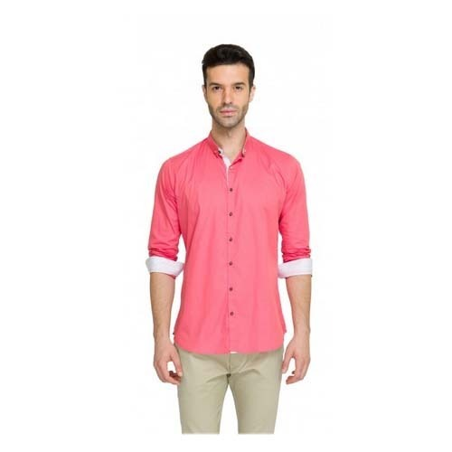 Formal Shirt - Teemper Men Pink Casual Shirt Exporter from Mumbai
