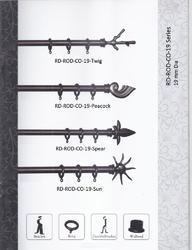 L Shapped Wooden Curtain Rods - Co-9 Series