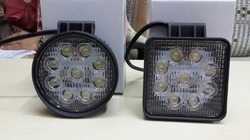 Round and Square Fog Lamp with LED  9 LED 27 Watts