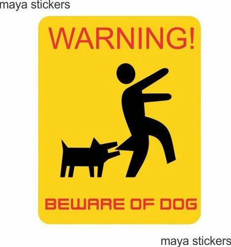 Beware Of Dog Signs Vinyl Sticker वनइल सटकर Maya