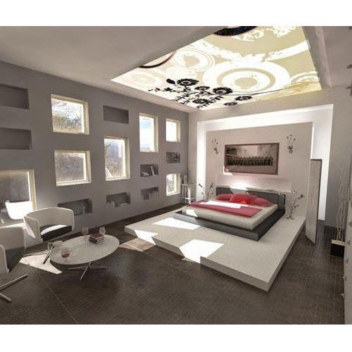 Bedroom Designs From Professionals In Hyderabad  C2NyYXBlLTEtRHBWSGVH: Stylish False Ceiling At Rs 30 /square Feet
