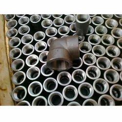 Silver Carbon Steel Socket Elbow, Packaging Type: Type Box
