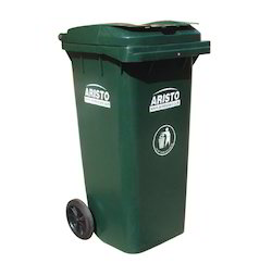Plastic Dustbin with Wheels