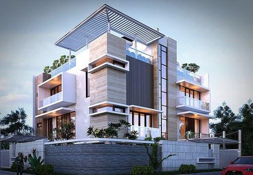 Home Design Ideas Elevation: Exterior Design 3D, ���ाहरी ���िजाइन ���ी ���ेवाएं, ���ाहरी ���िज़ाइन