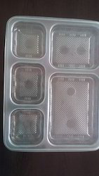 Plastic Tranparent Lunch Packing Food Tray
