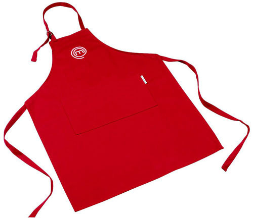 Plain Red Cotton Apron, Size: Medium, Large And Extra Large
