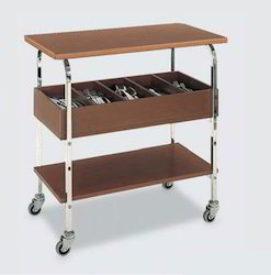 Wooden Cutlery Trolley with SS Frame