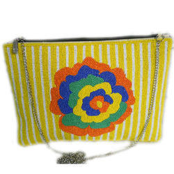 Zari Embroidery Clutch Bag