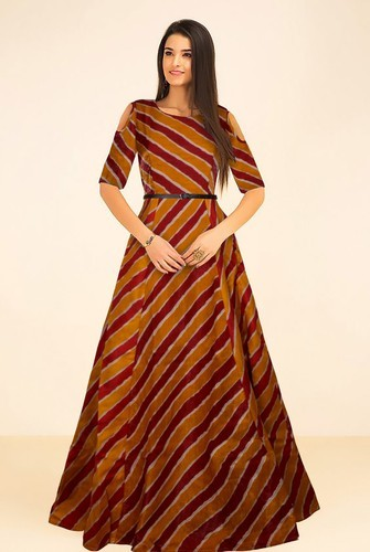 Printed Western Gown For Wedding 0be866c3f
