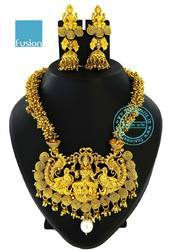 Traditional Antique Temple Necklace Set