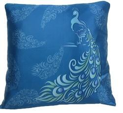 Digital Peacock Cushion
