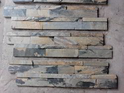 Indian Autumn Slate Stone Wall Stacking
