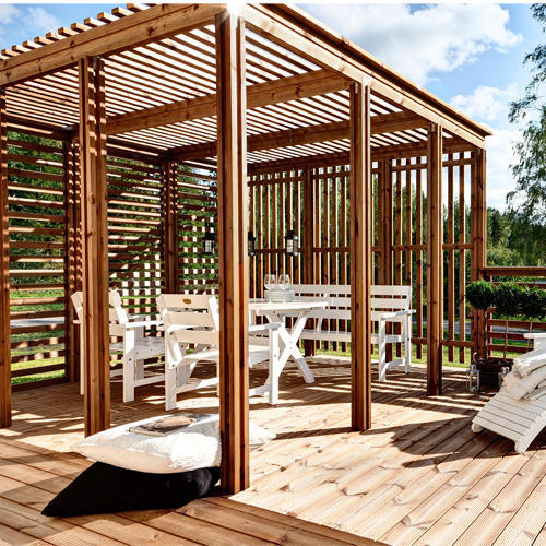 Wooden Pergolas At Rs 75000 Unit