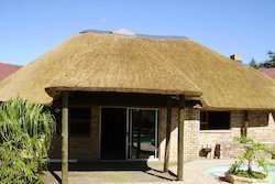 Steel Frame Structures preservatives Coated. Thatched Roof Construction Services