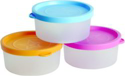 Plastic Airtight Plain Container Set