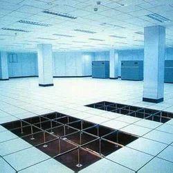 Steel Corporate Building Raised Access Flooring Service, Anti-Skidding, Size: 600mm X 600mm