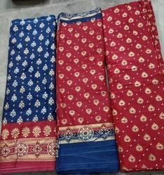 Printed Gold Print Cotton Suit Fabric, GSM: 100-150