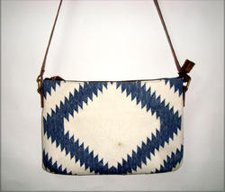 MB Exports Leather Kilim Slings Bag, for Casual Wear