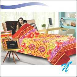Single Bed Microfiber Printed Blanket Gold Collection