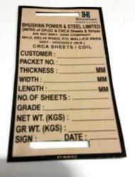 Metal Tags for Steel Coils