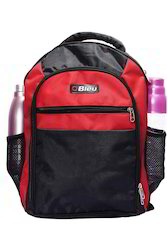 Black & Red Trendy Laptop Backpack Bag