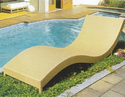 Wicker Sun Lounger