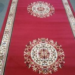 BCF Red Printed Carpet