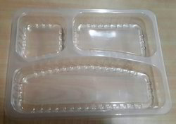 3 Portion Meal Tray without Lid