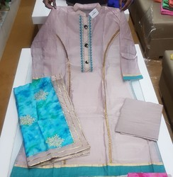Chanderi Designer Suit