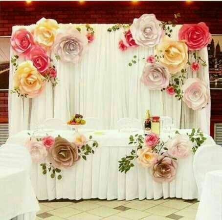 Paper flower stage decoration service in ripon street kolkata paper flower stage decoration service mightylinksfo