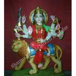 Maa Durga Marble Sculpture