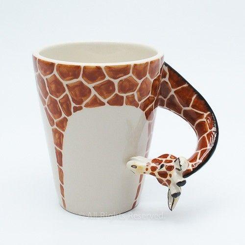 Animal coffee mugs coffee drinker for Animal shaped mugs
