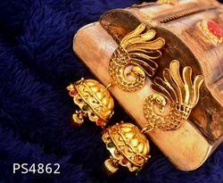 Peacock Golden Jhumkas