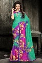 Green Priceless Printed Surat Designer Saree, 6.3 m (with blouse piece)