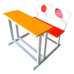 Duel Desk With Printed Laminated Back