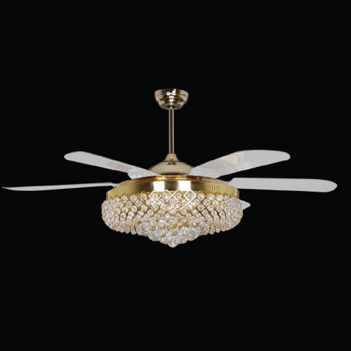 Fancy Fan Crystal Designer Led Ceiling Fan Manufacturer From Coimbatore